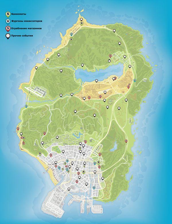 Gta 5 Map Store Locations GTA 5 Sign Locations Map ...