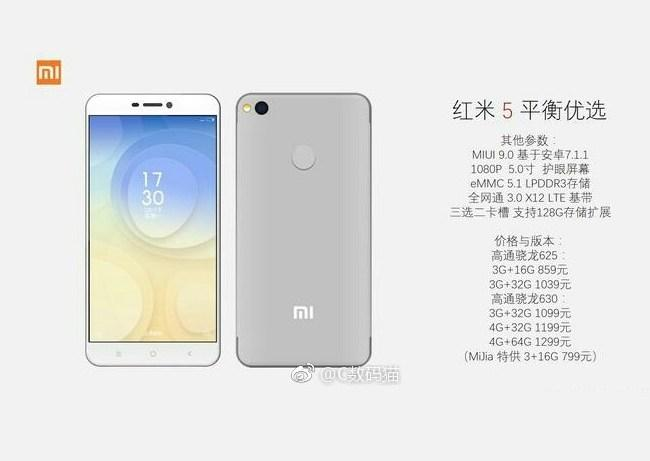 Xiaomi Redmi 5 Leaked Advert 1