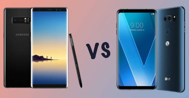 141957 phones vs samsung galaxy note 8 vs lg v30