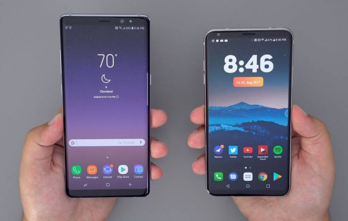 v30 vs note 8 software