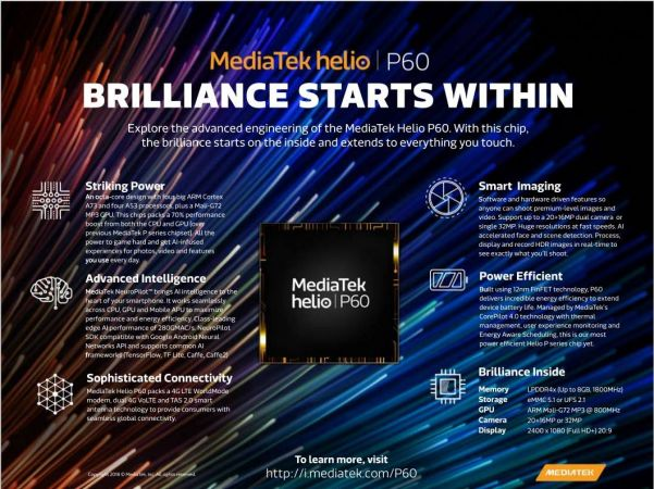 MediaTek Helio P60 5